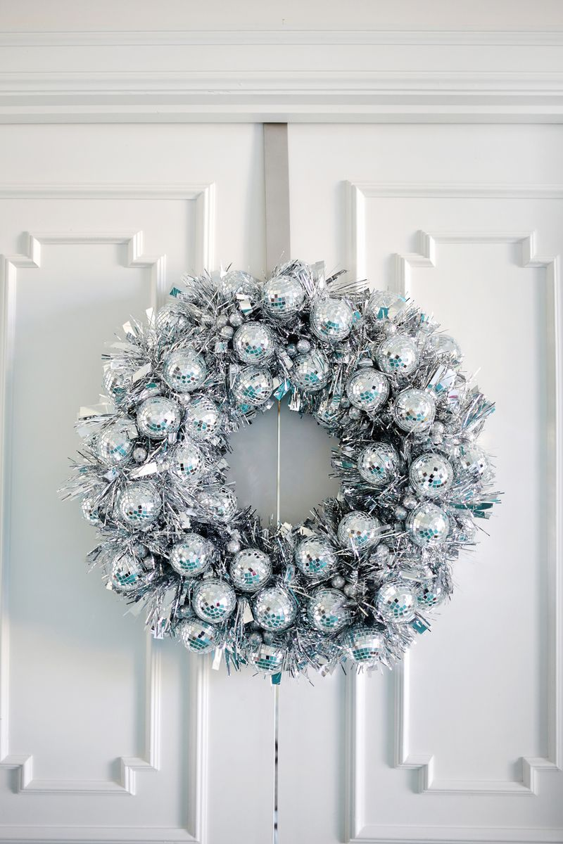 disco ball wreath