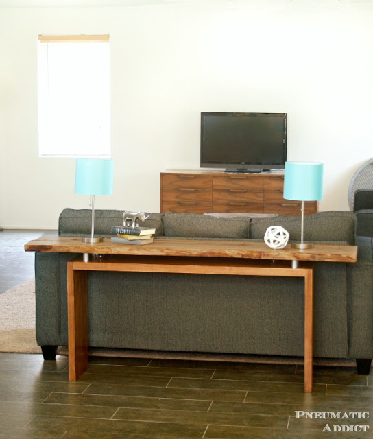DIY Floating Top Console Table With Slabs