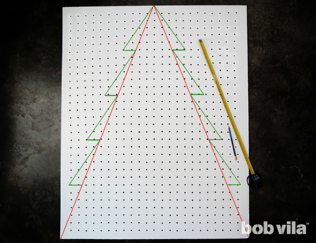 Picture Of diy folding pegboard christmas tree  3