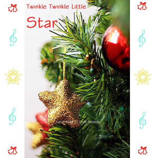 glitter star ornament (via craftpassion)