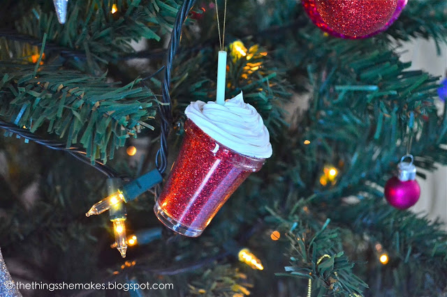 frappuccino ornaments (via thethingsshemakes)