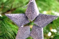 glitter 3D star