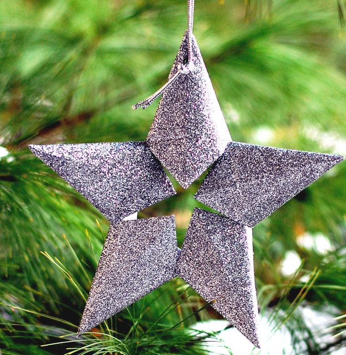 glitter 3d star via easypapercrafts