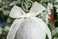 sparkling silver ornament