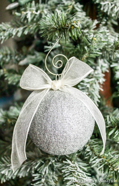 sparkling silver ornament (via shelterness)