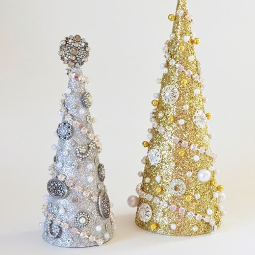 glitter glam trees (via ilovetocreateblog)