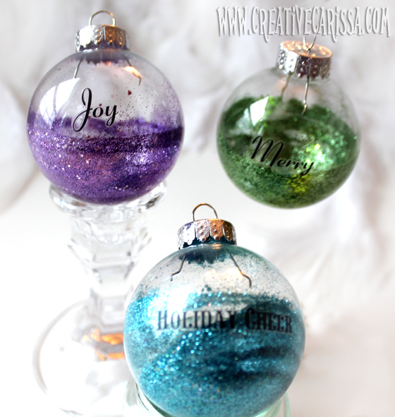 half glitter ornament (via creativegreenliving)