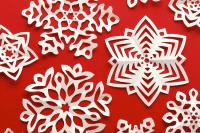 cut fold kirigami snowflakes