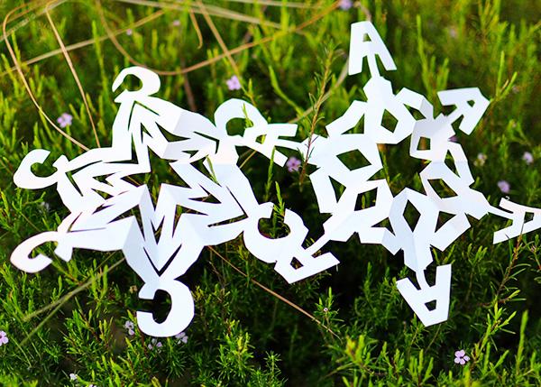 monogram snowflake (via thecheesethief)