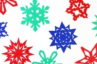 sticky snowflakes