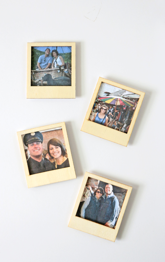 DIY Polaroid Magnets From Instagram Pictures - Shelterness
