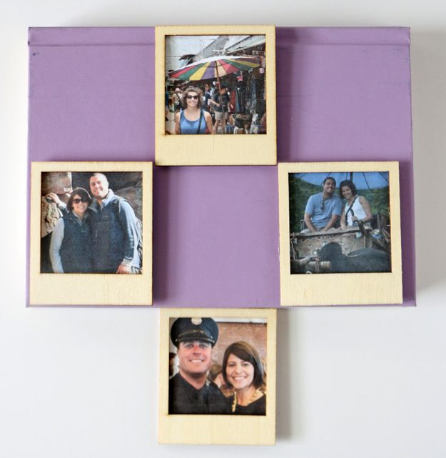 DIY Polaroid Magnets From Instagram Pictures