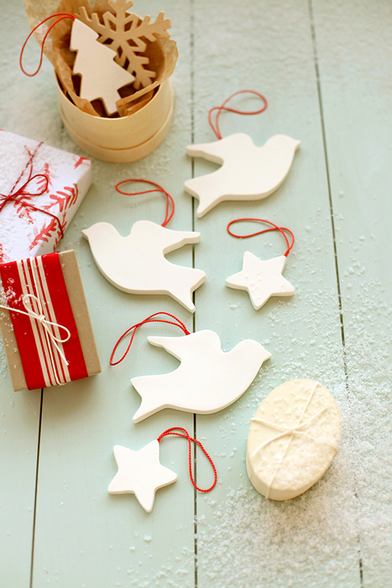 Diy Scandinavian Inspired Christmas Clay Ornaments