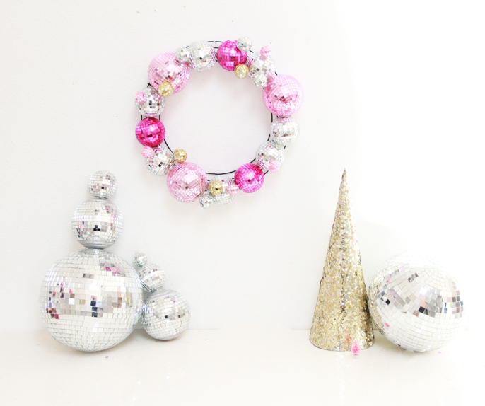 Picture Of diyshining disco ball wreath for christmas and new year  4
