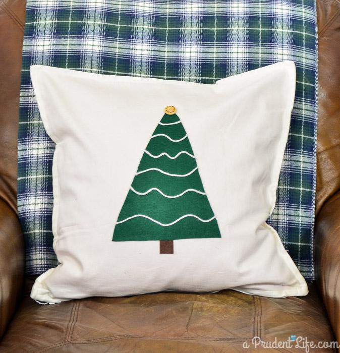 rustic tree pillow