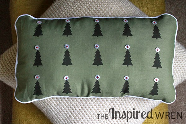 Christmas forest pillow