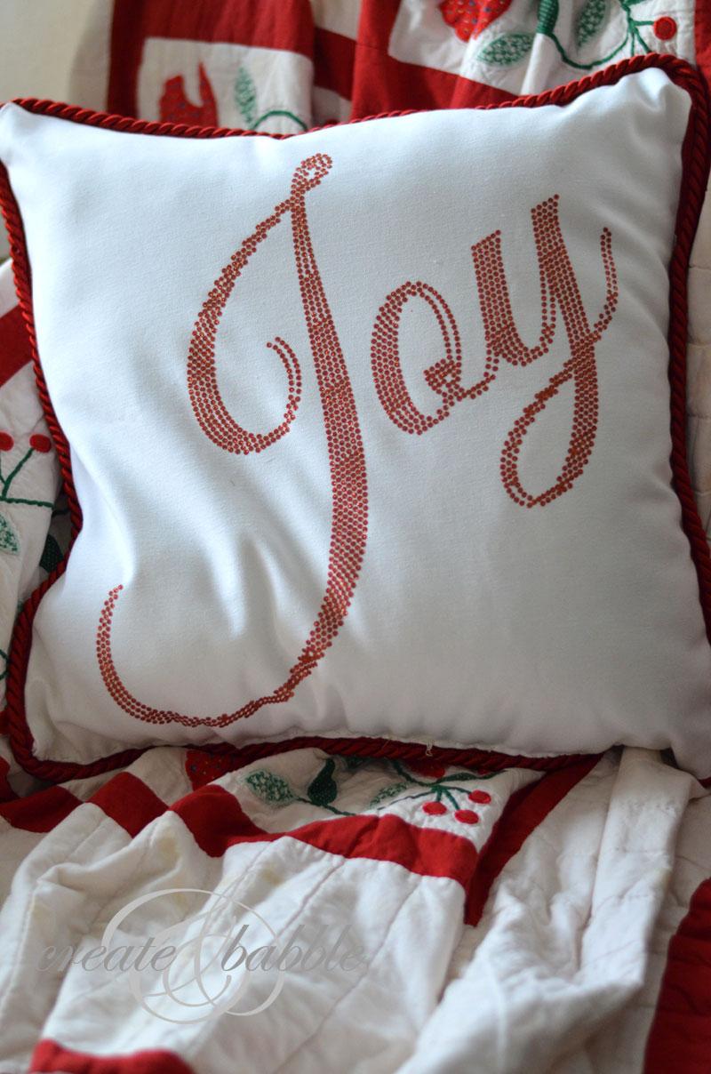 glitter vinyl pillow