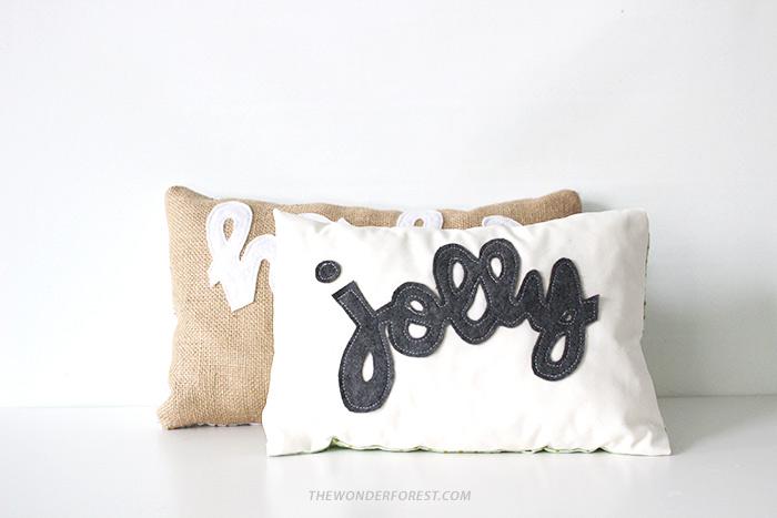 no sew pillows (via thewonderforest)