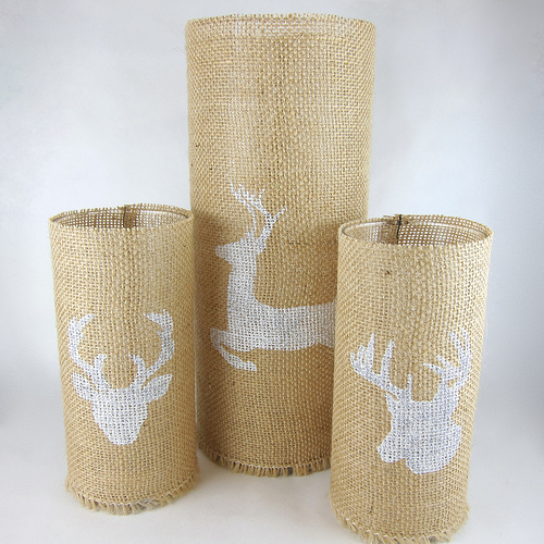 deer candleholders (via shelterness)