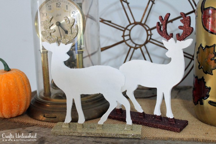 dipped glitter deer via blog - Christmas Deer Decor
