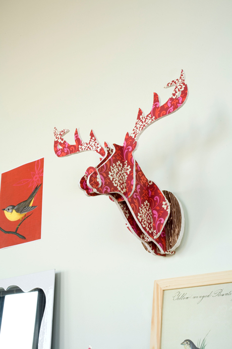 colorful foam deer head (via chroniclebooks)