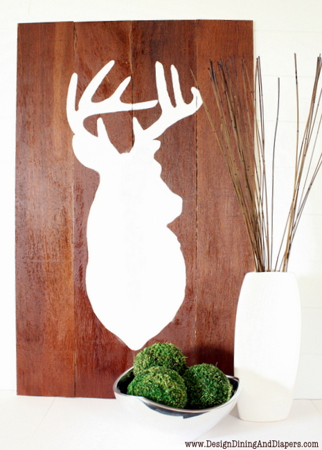 deer wall art (via designdininganddiapers)