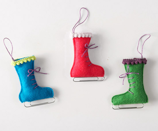felt ice skates (via bhg)