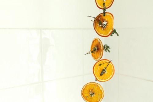 sliced citrus mobile (via shelterness)