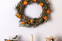 stylish citrus wreath