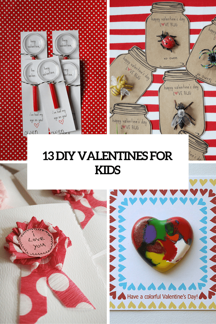 13 Creative DIY Valentineu0027s Day Cards For Kids