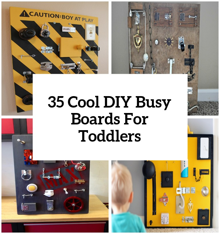 14 diy busy boards for toddlers cover