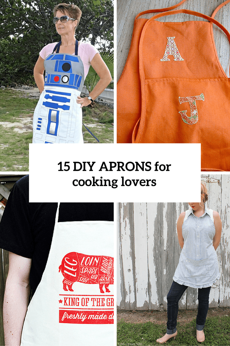 15 diy aprons for cooking fans cover