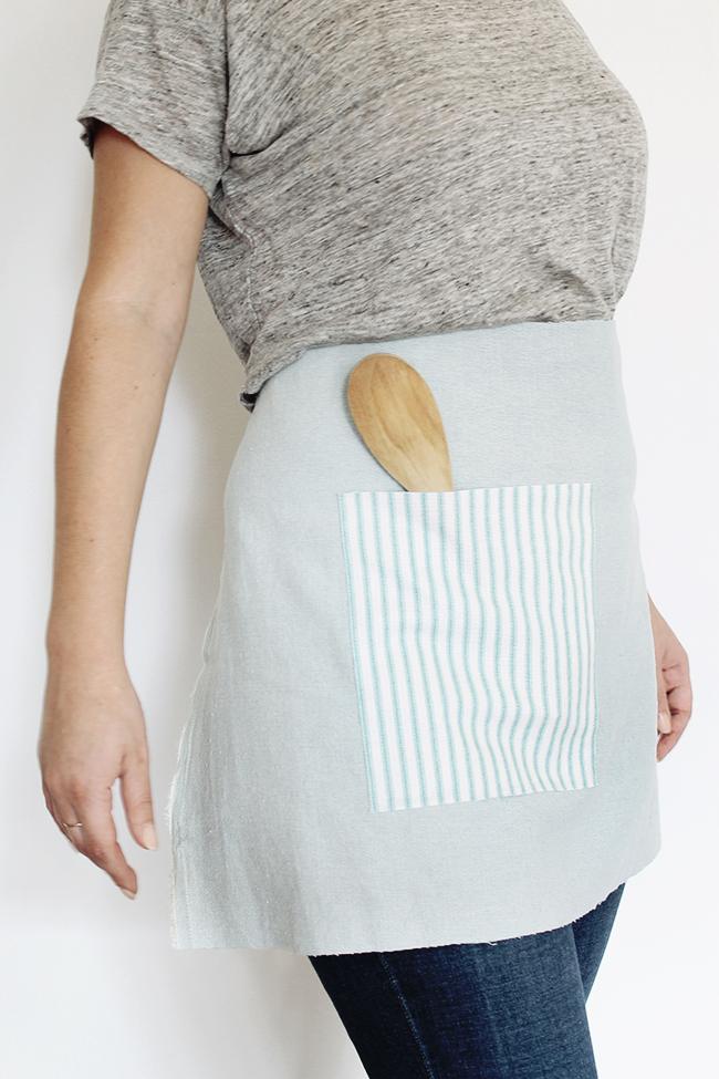 no sew waist apron (via almostmakesperfect)