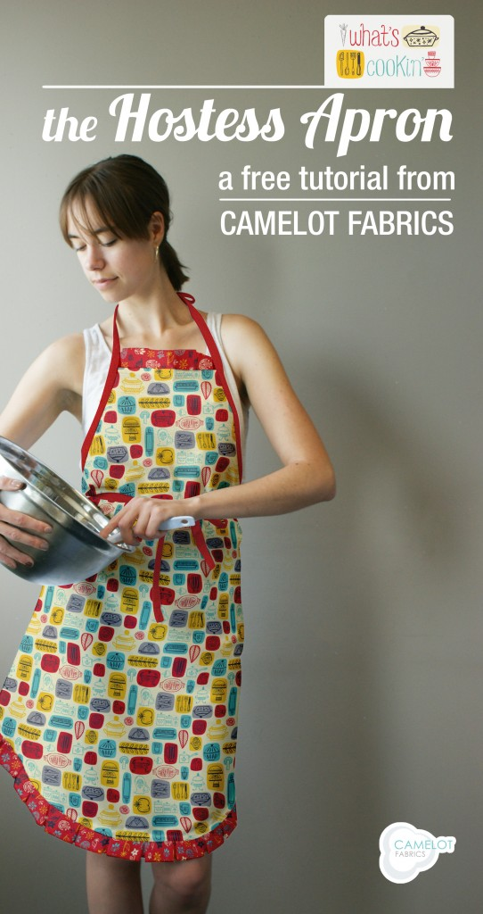 hostess apron (via camelotfabricsblog)