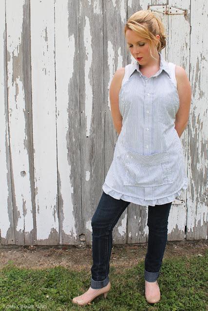 men shirt apron (via lovegrowswild)