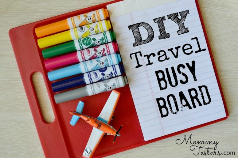 If you're a frequent flyer, a frequent carpool driver or a frequent restaurant diner then this busy board is a perfect thing you could make for your kids.(via hellosplendid.com)
