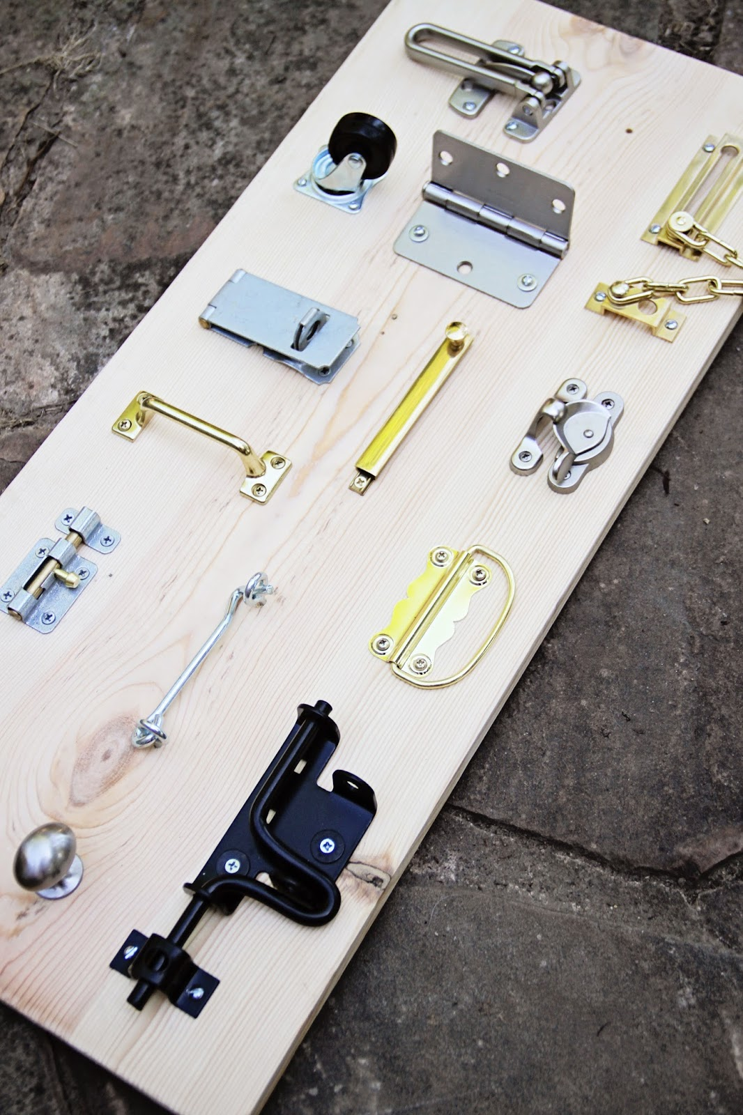 Lock, HInge and Latches board