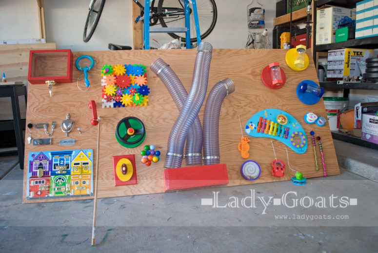 If you have several children in your family and enough space then this project is perfect for you. Dust collector hoses definitely make an impression, right? (via www.ladygoats.com)