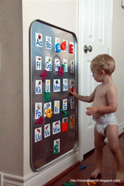 DIY Alphabet board (via nicandkate09.blogspot.ru)