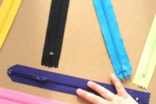 Simple DIY zipper board