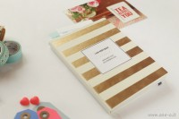 golden striped planner