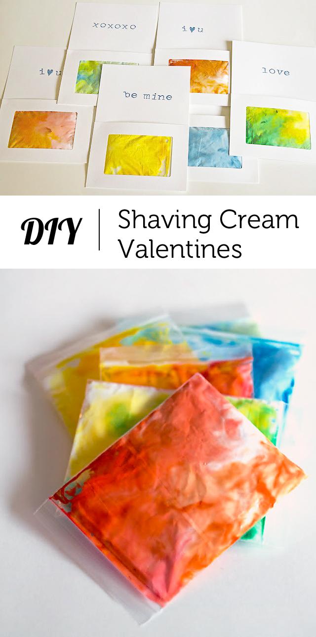 shaving cream valentine (via modernparentsmessykids)