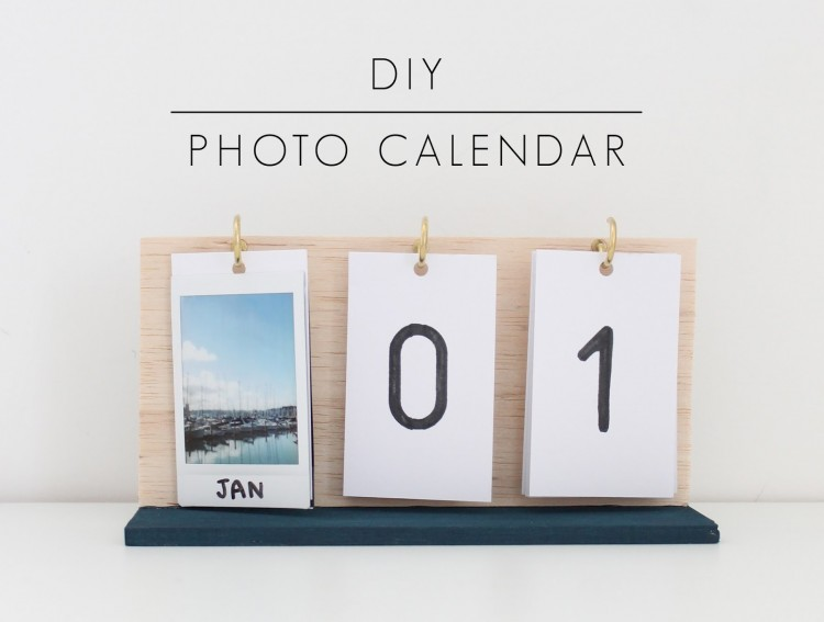 Creative Handmade Calendar Ideas : Cute diy flip calendars to welcome shelterness
