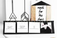 Instagram black and white calendar