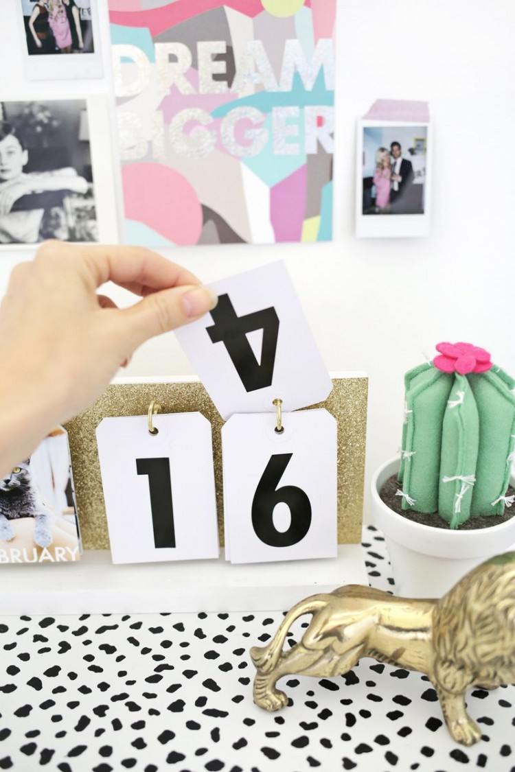 7 Cute Diy Flip Calendars To Welcome 2016 Shelterness