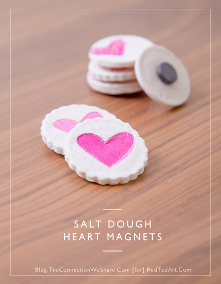 salt dough magnets (via redtedart)
