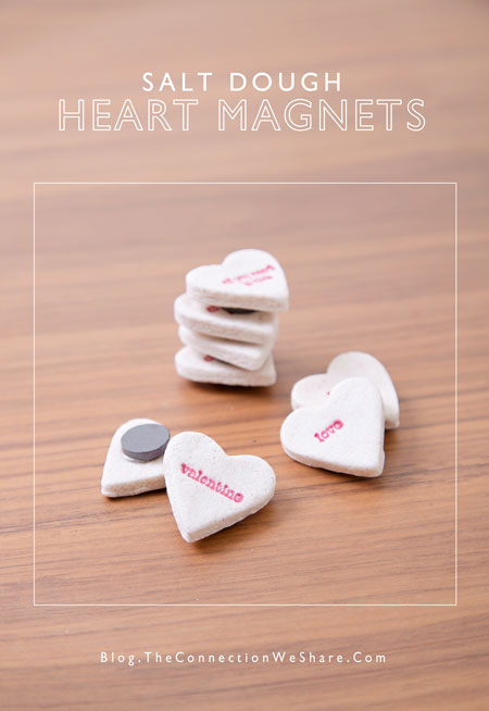 salt dough stamped magnets (via blog)