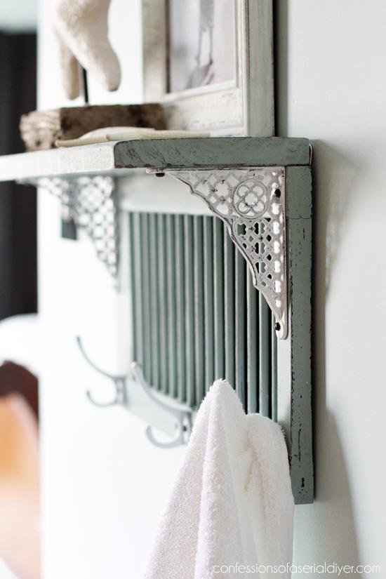 Diy Bathroom Shelf From An Old Shutter Shelterness