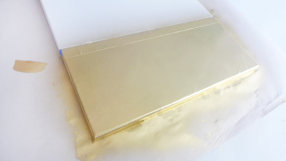 Picture Of diy faux marble and gold canvas wall art  3