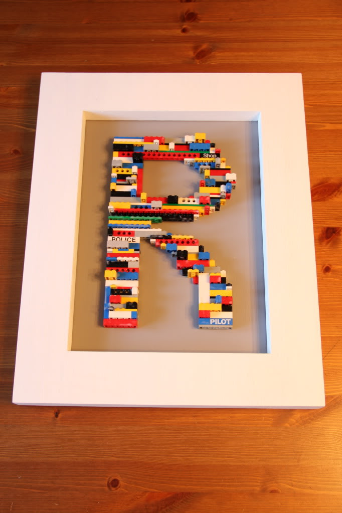 Lego letter art (via mylifeoftravelsandadventures)